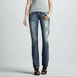 True Religion Black Water Johnny Jeans